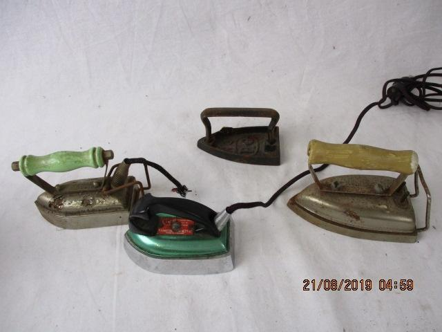 Job lot of small vintage 1960's travel/toy irons  image