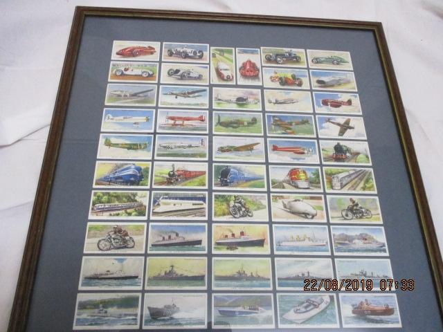 Cigarette and Tea Card Collection (Speed) 1938 Series 1-50 Professionally framed.  image