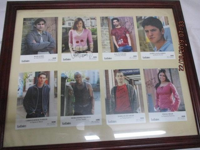Collection of Eastenders signed postcards  image