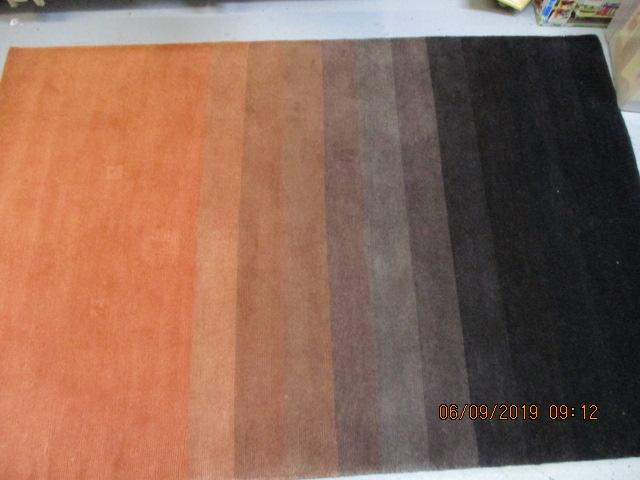 Nepalese brown hand knotted 100% pure wool pile  image