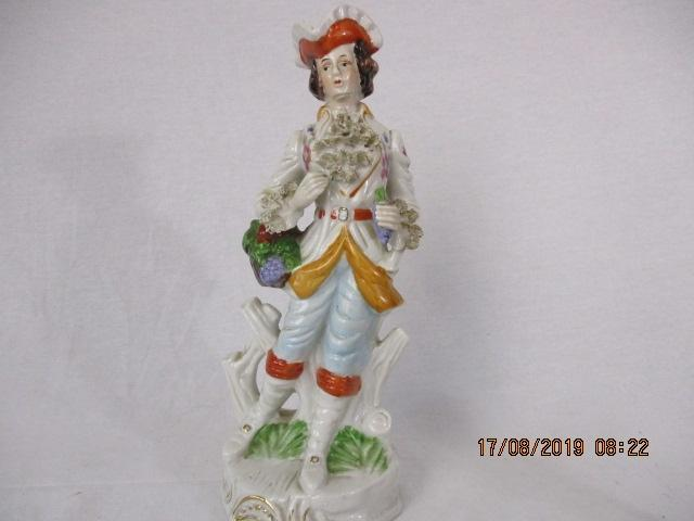 Antique Staffordshire male figure 30cms  image