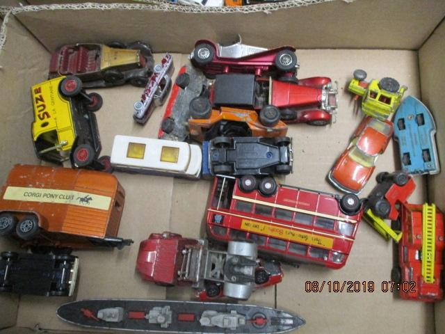 Quantity of die cast vehicles to include Corgi, matchbox and Matchbox Superfast.  image