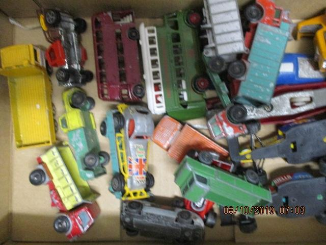 Quantity of die cast vehicles to include Husky, Palitoy, Onyx, Lledo, Matchbox & Corgi.  image