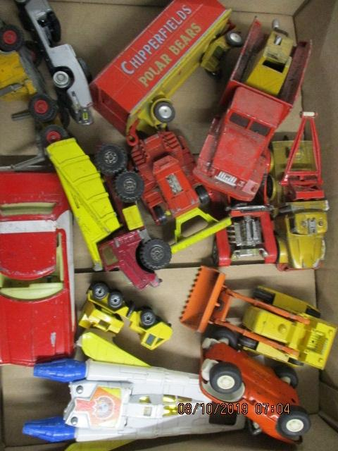 Quantity of die cast vehicles to include Matchbox, Corgi, Tonka etc.  image
