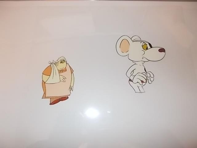 Original pair of hand painted Cosgrove Hall animation of Danger Mouse/Count Duckula cells Nanny 4/32 H.G plus Danger mouse D2 .(frame not included)  image