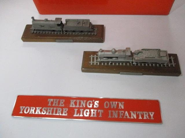 Pewter loco's x 2 plus kings own name plate  image