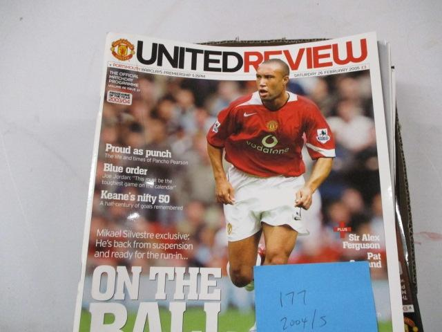 Manchester United Review football programme magazine. 2004/2005 qty30  image