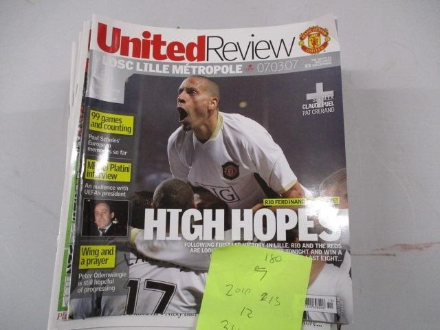 Manchester United Review football programme magazine .2007/2010/2012/2013 qty34  image