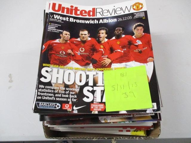 Manchester United Review football programme magazine . 2005/2011/2013 qty 39  image