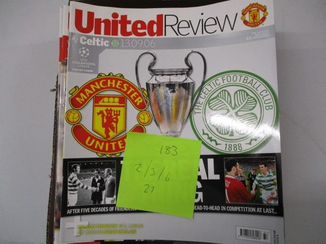 Manchester United Review football programme magazine . 2003/2002/2006  image