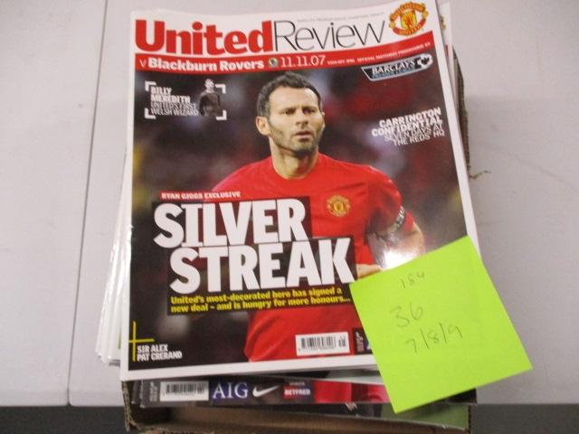 Manchester United Review football programme magazine . 2007/2008/2009 qty 36  image