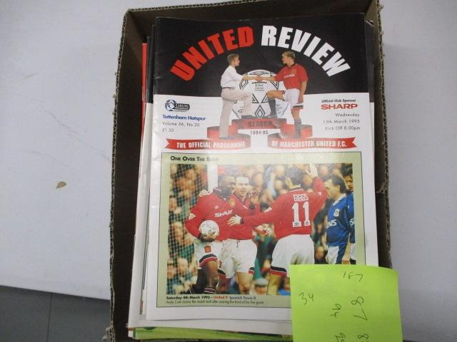 Manchester United Review football programme magazine .1987/1988/1994/1995 qty 34  image