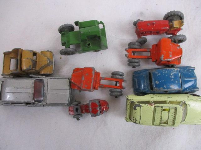 Selection of miniature Husky/Lesney etc die cast vehicles.  image