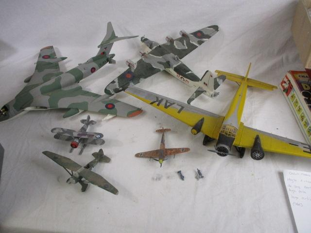 Trio of large scale Military airfix/Revell planes, along with a trio of smaller models.  image