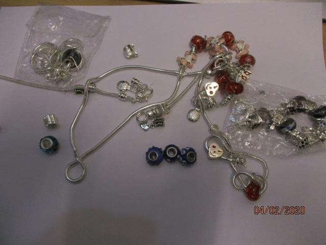 Collection of Pandora style jewelry  image