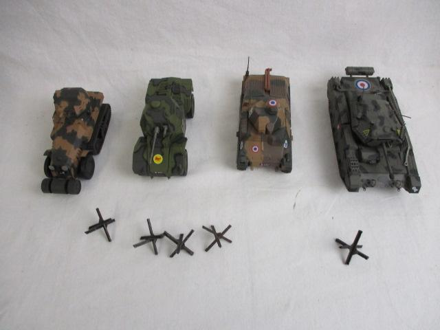 Selection of 4 model tanks.  image
