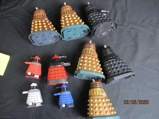 Large collection of Doctor Who action figure toys Daleks A/F  image