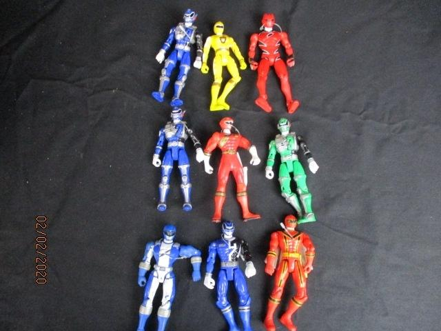 Large collection of vintage Power Ranger toy action figures  image