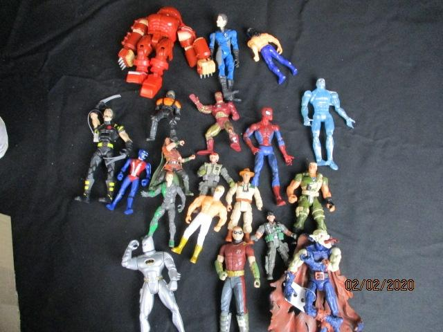 Large collection of Marvel and DC action figure toys  image
