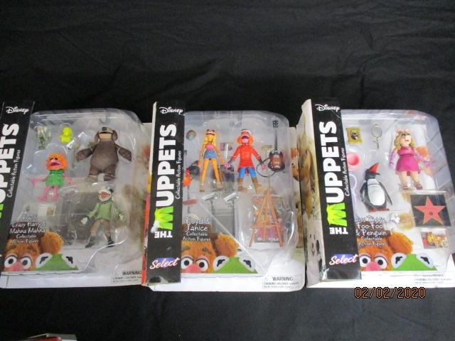 A collection of sealed Diamond Select The Muppets collection action figure toys  image