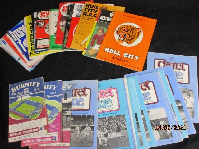 Burnley football club related football programs 1960s and 1970s  image
