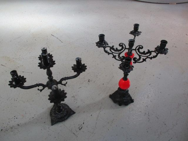 Pair of Gothic candlesticks.  image