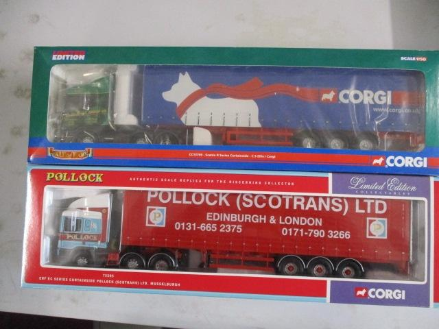 A pair of Corgi Toys Limited Edition trucks / lorrys to include :75205 Pollock and CC13709 Nigel Rice  image