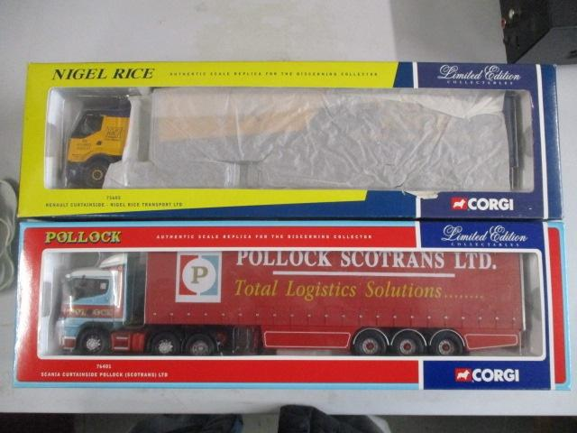 A pair of Corgi Toys Limited Edition trucks / lorrys to include :76401 Pollock and 75605 Nigel Rice  image