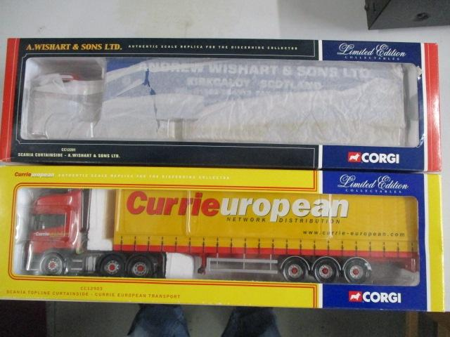 A pair of Corgi Toys Limited Edition trucks / lorrys to include :CC12903 Currieuropean and CC12201 A Wishart & Sons  image