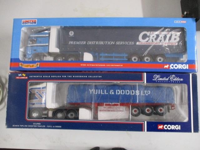 A pair of Corgi Toys Limited Edition trucks / lorrys to include :CC Craid Transport LTD and CC12905 Yuill & Dodd LTD  image