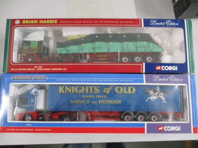 A pair of Corgi Toys Limited Edition trucks / lorrys to include :CC11901 Brian Harris and 75405 Knights of Old  image