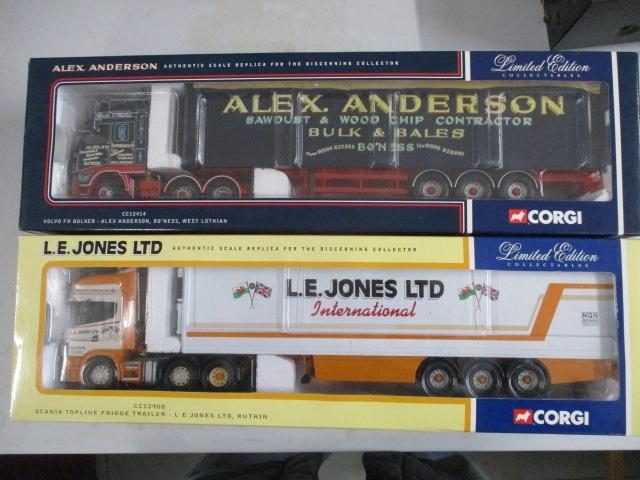 A pair of 1/50 scale Corgi Toys Limited Edition trucks / lorrys to include :CC12414 Alex Anderson and CC12908 C E Jones LTD  image