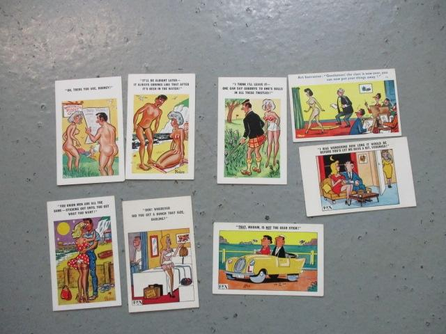 Set of vintage saucy postcards  image