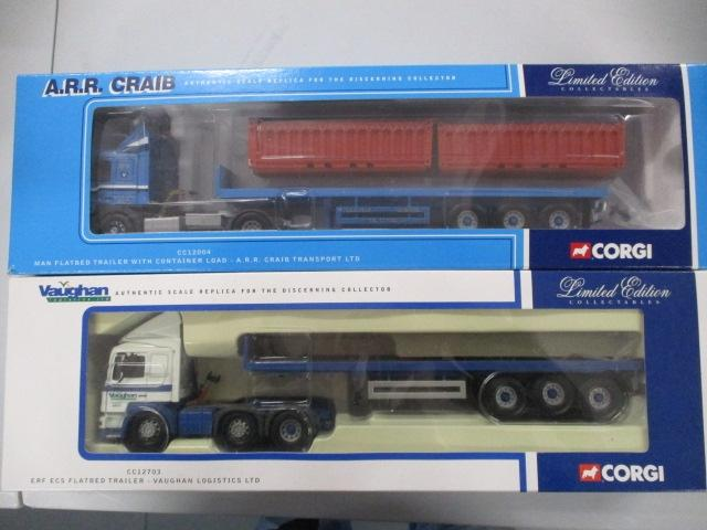 A pair of 1/50 scale  Corgi Toys Limited Edition trucks / lorrys to include : CC12004 A.R.R. Craib and CC12709 Vaughan Logistic Ltd.  image