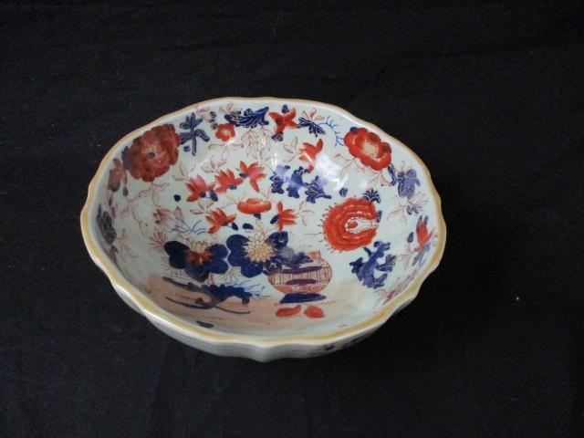 Vintage Victoria Ironstone stoneware Chinese style decorated bowl.  image