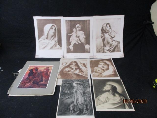 Collection of old religious prints,