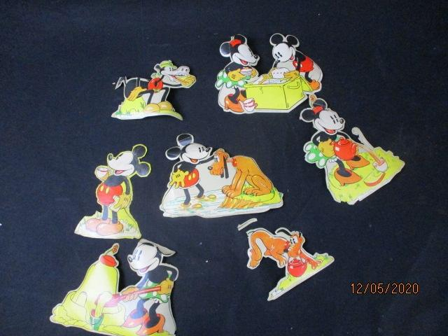 Selection of vintage Mickey Mouse cut outs.  image
