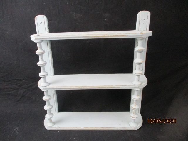 Vintage/victorian shabby chic look french wall shelf.  image