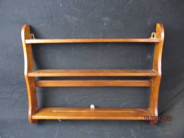 Vintage wall mounted spice/plate rack.  image