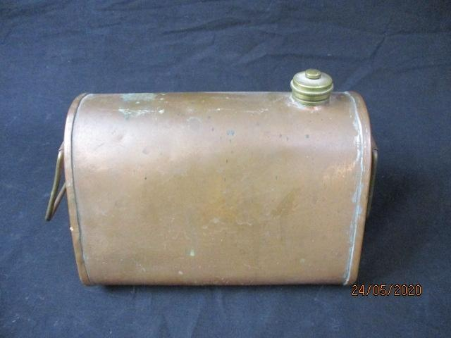 Vintage Turner & son copper bed warmer.  image