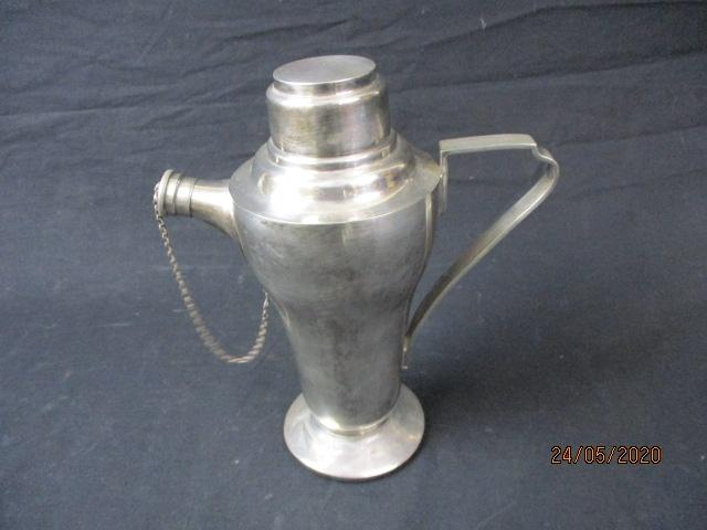 1930's vintage silver plated cocktail shaker.  image