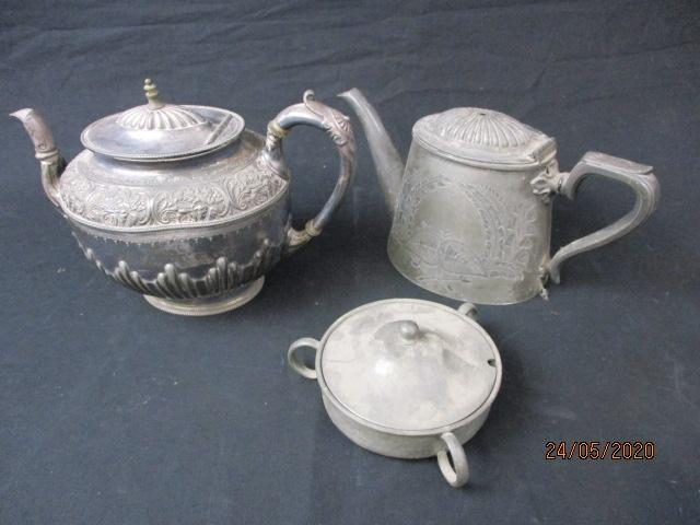 Collection of pewter.  image