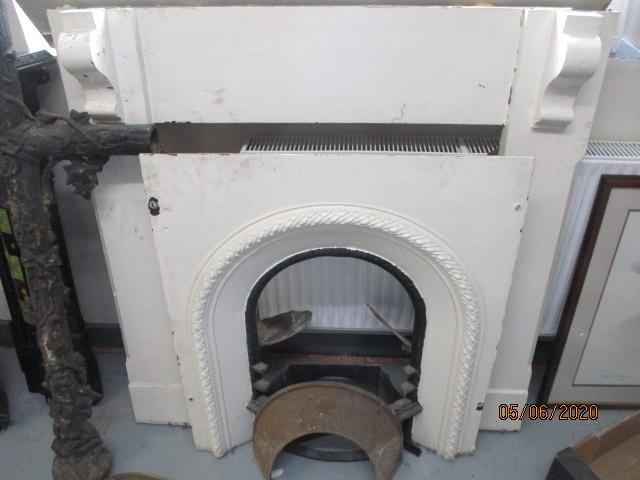 Early 20th Century Cast Iron Fireplace with Cast Iron Surround  image