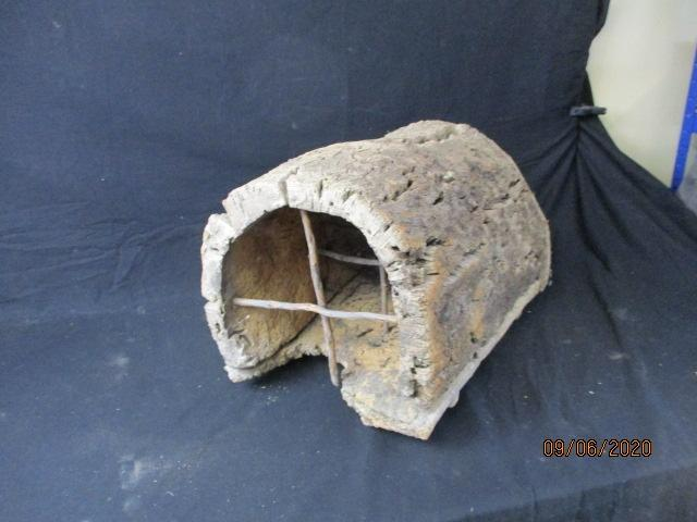 Antique Portuguese provincial beehive, made from cork oak back  image