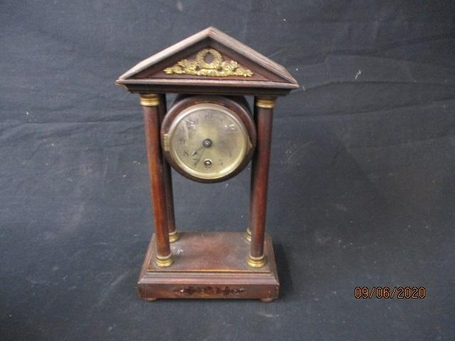 Antique H.A.C German mahogany clock. made in Wurttemburg.  image
