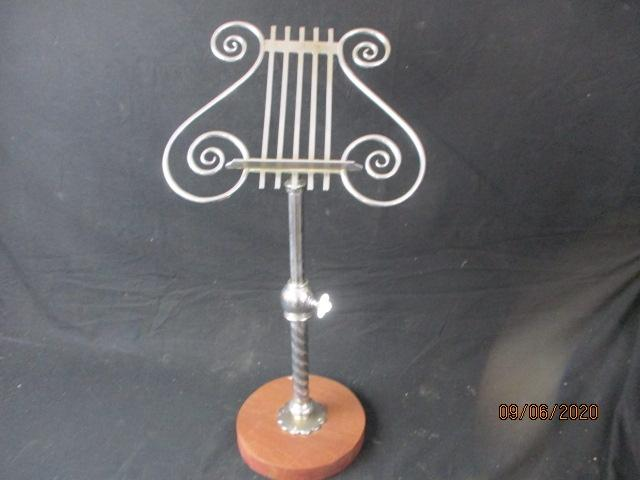 Adjustable music stand.  image