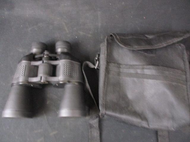 Pair of 10 x 50 binoculars with case and  lens covers  image