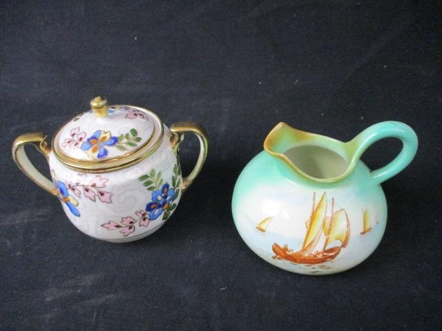 2 x  Vintage pottery The Foley Faience jug and a Naritaki lidded urn  image