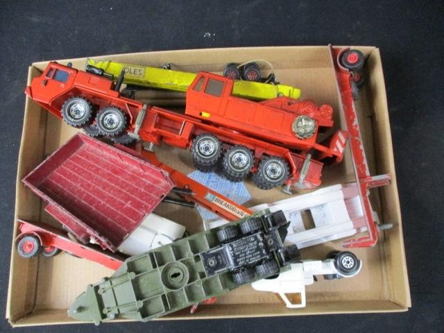 A collection of vintage die cast vehicles to include Siku, Lesney and Britains  image