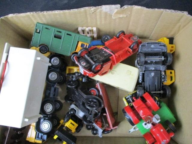 A collection of vintage die cast vehicles to include Dinky and others  image